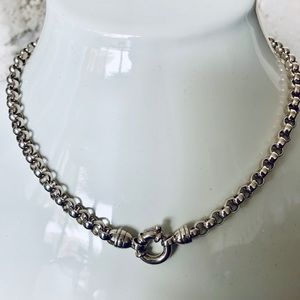 Jewelry - SOLD Sterling Silver .925 Rolo Link Chain Necklace